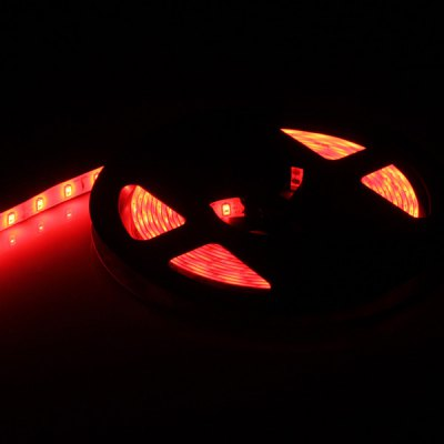 5M 90W 300 x SMD 5630 Flexible Waterproof LED Strip Light  -  Red Light DC - 12V