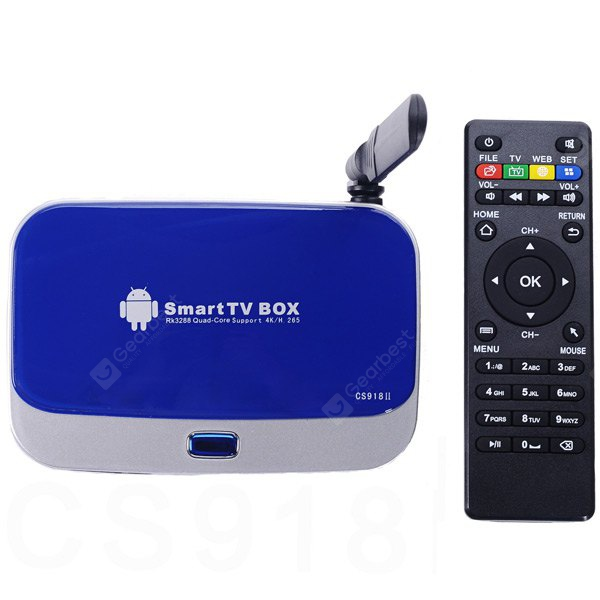CS918II RK3288 Quad Core 4K x 2K Android 4.4 TV Box Built in Antenna for WiFi Bluetooth ( 2GB RAM 8G