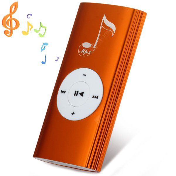 Cute Metal Stripe Style Stereo Sound MP3 Player with Speaker Universal 3.5mm Jack Support TF Card for Music 104540301