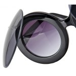 Round Plastic Steampunk Eyewear UV - resistant Sunglasses (2 Flip Round Frame UV400 ) photo