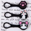 3pcs 3D Cat Shape Cartoon Silicone Cord Ties Headphone Cable Tidy for sale