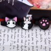 best 3pcs 3D Cat Shape Cartoon Silicone Cord Ties Headphone Cable Tidy