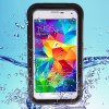 Practical Transparent Waterproof Plastic and Silicone Protective Case for Samsung Galaxy S5 i9600 SM - G900
