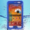Buy Practical Transparent Waterproof Plastic Silicone Protective Case Samsung Galaxy Note 3 N9000 N9006 BLUE