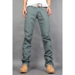 Buy Casual Style Zipper Fly Straight Leg Slimming Solid Color Men's Cotton Blend Joker Pants 31 GREEN