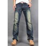 Buy Casual Style Slimming Zipper Fly Straight Leg Personality Crumple Design Men's Joker Denim Pants 32