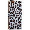 cheap Artificial Leather and Plastic Material Leopard Print Design Cover Case with Card Holder and Lanyard for iPhone 6 4.7 inch Screen