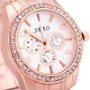 Sbao A102 Female Quartz Watch Decorative Non - functioning Sub - dials Round Dial Steel Wristband deal
