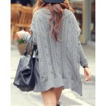 Oversized Cable Knit Slouchy Jumper Dress deal