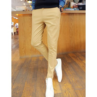 Гаджет   Casual Style Slimming Narrow Feet Zipper Fly Personality Knitting Splicing Waist Men
