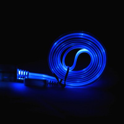 Фотография PZ - 27 High Quality 1m Luminous Micro USB Cable with LED Visible Light