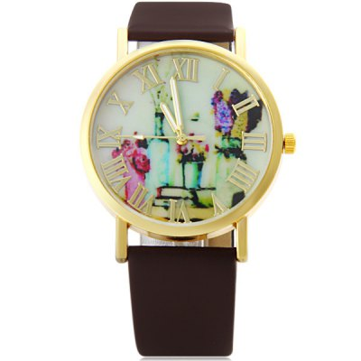 Female Retro Rome Flower Quartz Watch Round Dial Leather WristbandWomens Watches<br>Female Retro Rome Flower Quartz Watch Round Dial Leather Wristband<br><br>Watches categories: Female table<br>Available color: Black, White, Red, Brown<br>Style : Fashion&amp;Casual<br>Movement type: Quartz watch<br>Shape of the dial: Round<br>Display type: Pointer<br>Case material: Stainless steel<br>Case color: Gold<br>Band material: Leather<br>Clasp type: Pin buckle<br>The dial thickness: 0.8 cm / 0.3 inches<br>The dial diameter: 3.8 cm / 1.5 inches<br>The band width: 1.9 cm / 0.7 inches<br>Product weight: 29 g<br>Product size (L x W x H) : 24 x 3.8 x 0.8 cm / 9.4 x 1.5 x 0.3 inches<br>Package contents: 1 x Watch