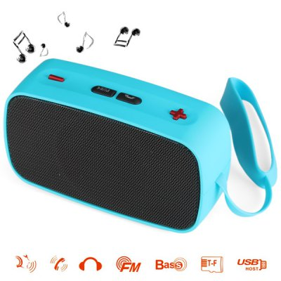 SDH - 200 HiFi Mini Wireless Bluetooth Music Speaker Built - in Microphone Support AUX External Audio Input