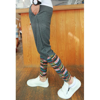 Гаджет   Ethnic Style Slimming Lace-Up Colorful Print Narrow Feet Men