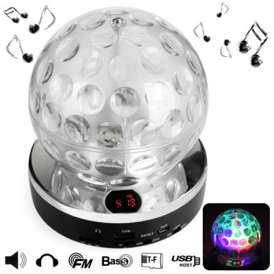 QC - 1010 High Fidelity LED Lighting Stage Sound Speaker With Earphone