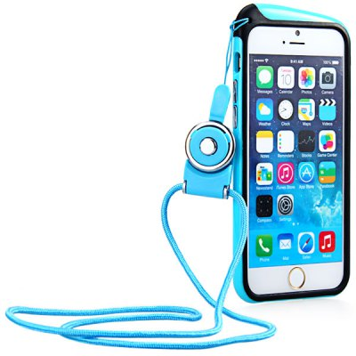 Гаджет   High Quality Frame Design TPU Protective Bumper Case with Hang Rope for iPhone 6  -  4.7 inches iPhone Cases/Covers