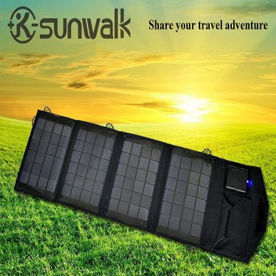 SUNWALK-140 14W Foldable Portable Solar Charger Pack