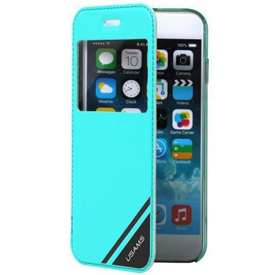 ФОТО USAMS PC and Artificial Leather Material Protective Cover Case with View Window for iPhone 6  -  4.7 inches