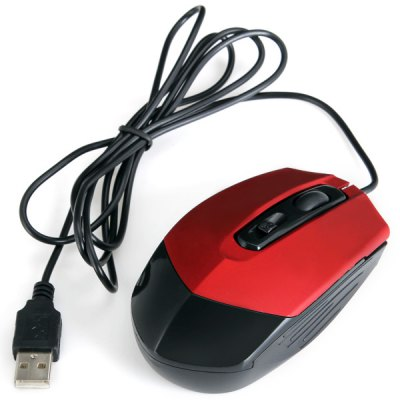 GF - 616 Ultra Mini 4 Buttons 1000 DPI Wired Optical Mouse For Pro Gam