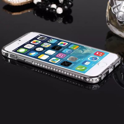Гаджет   Exquisite Design Titanium Alloy Material Bumper Frame Case with Diamond for iPhone 6  -  4.7 inches iPhone Cases/Covers