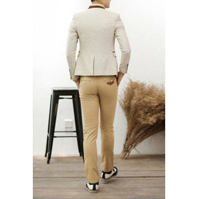 Stylish Lapel Leather Embellished Slimming Long Sleeves Mens Woolen Blend BlazerMens Blazers<br>Stylish Lapel Leather Embellished Slimming Long Sleeves Mens Woolen Blend Blazer<br><br>Material: Cotton, Wool, Faux Leather<br>Clothing Length: Regular<br>Closure Type: Single Breasted<br>Weight: 1KG<br>Package Contents: 1 x Blazer