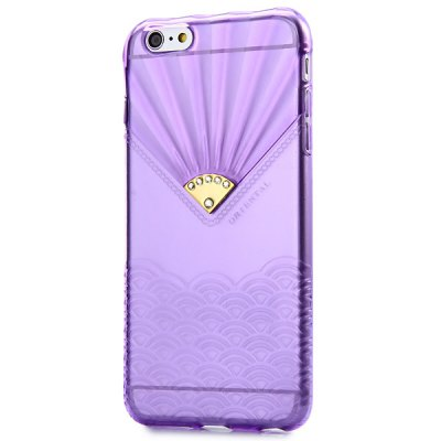 Гаджет   Transparent TPU Material Spindrift Pattern and Diamond Design Protective Back Cover Case for iPhone 6 Plus  -  5.5 inches iPhone Cases/Covers