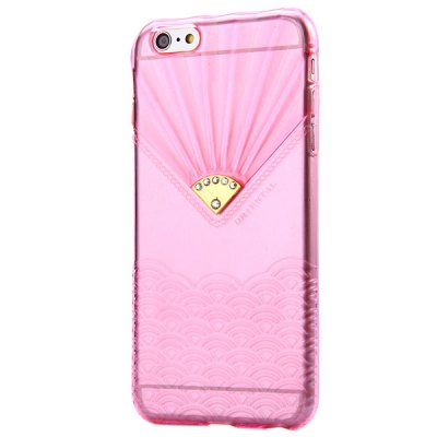 ФОТО Transparent TPU Material Spindrift Pattern and Diamond Design Protective Back Cover Case for iPhone 6 Plus  -  5.5 inches