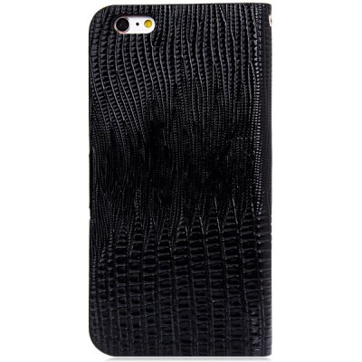 ФОТО Artificial Leather and Plastic Material Crocodile Texture Design Cover Case with Lanyard and Card Holder for iPhone 6 Plus  -  5.5 inches