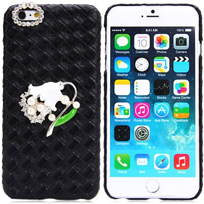 PU and PC Back Cover Case for iPhone 6 Plus - 5.5 inches