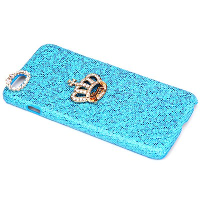 ФОТО Fashionable Plastic Material Back Cover Case with Crown Pattern and Diamond Design for iPhone 6 Plus  -  5.5 inches