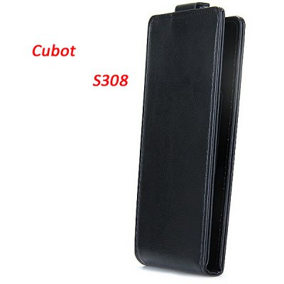Cubot S308 Leather + Plastic Fashion Design Vertical Protective Wallet Case Cove