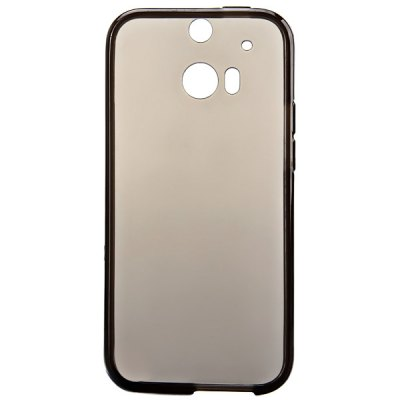 ФОТО High Quality Transparent TPU Material Protective Back Cover Case for HTC One M8
