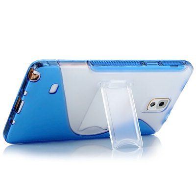 ФОТО High Quality Transparent TPU and PC Material Support Protective Back Cover Case for Samsung Galaxy Note 4 N9100