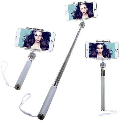 M - 335 Fashionable Selfie Stretch Stick Monopod with Rotating Clip Stand