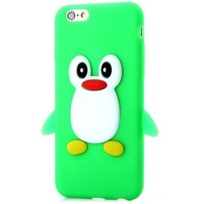 Fashionable Penguin Pattern Silicone Material Back Cover Case for iPhone 6  -  4.7 inches