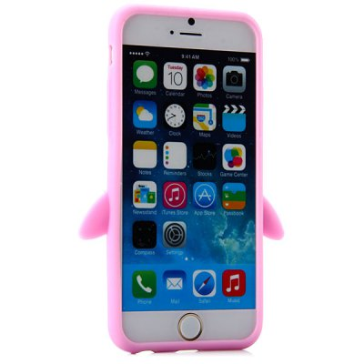 ФОТО Fashionable Penguin Pattern Silicone Material Back Cover Case for iPhone 6  -  4.7 inches