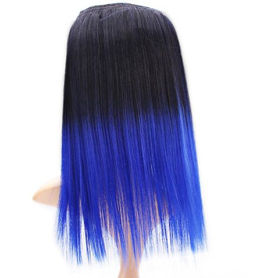 Yaki WVG 14 TIB/61C Black + Blue Women Stright Hair