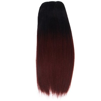 Black + Dark Brown Hairpiece Wig Tangle Free Highlight Stright Hair Extension