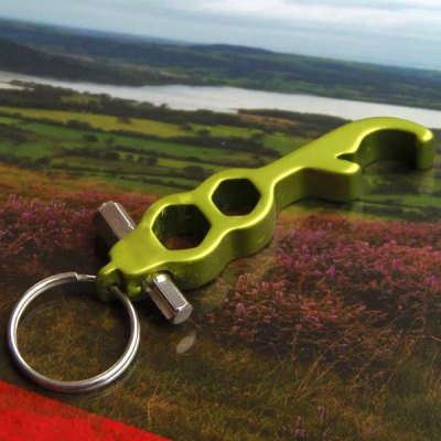 4 in 1 Practical Multi - purpose Keychain Key Ring Bottle Opener Bicycle Repair Tool Hexagonal Wrench Durable Gadget от GearBest.com INT