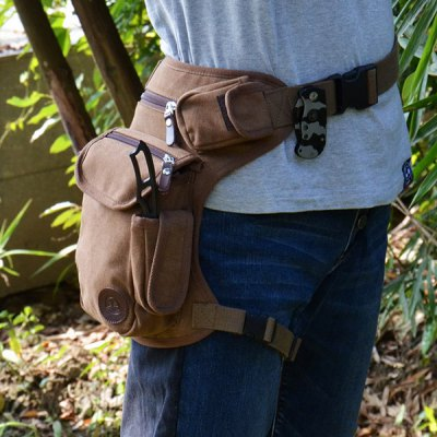 Practical Canvas Leg Bag Phone Coin Money Drugs Card Storage Pack Pocket Cycling Hiking Sports Outdoor Activities Supplies