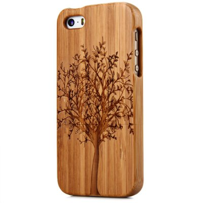 Гаджет   Tree Pattern Natural Bamboo with Two Parts Case Cover for iPhone 5 / 5S iPhone Cases/Covers