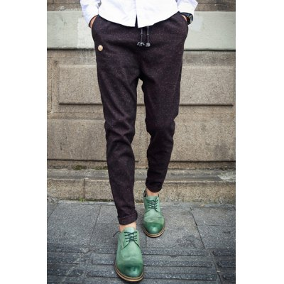 Гаджет   Casual Style Narrow Feet Lace-Up Slimming Gold Coin Badge Embellished Men