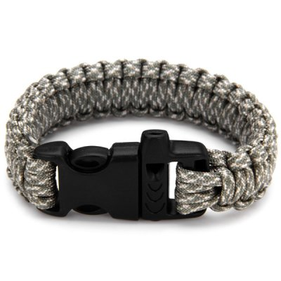 Outdoor Climbing Survival Bracelets with Plastic Whistle Clasp