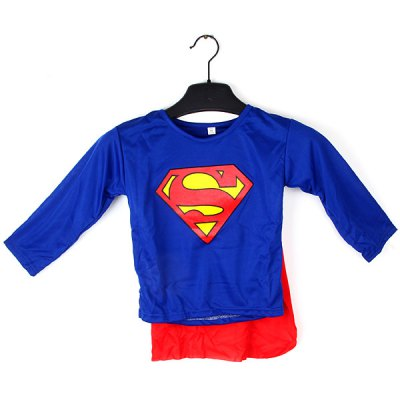 Attractive Superman Suits Clothes for Children Christmas Halloween Cosplay Costumes Ornaments Birthday Festivals Party Supplies Unique Gift