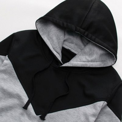 Casual Style Hooded Slimming Fashion Color Splicing Long Sleeves Mens Cotton Blend HoodiesMens Hoodies &amp; Sweatshirts<br>Casual Style Hooded Slimming Fashion Color Splicing Long Sleeves Mens Cotton Blend Hoodies<br><br>Material: Cotton, Polyester<br>Clothing Length: Regular<br>Sleeve Length: Full<br>Style: Casual<br>Weight: 1KG<br>Package Contents: 1 x Hoodies