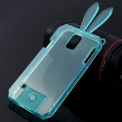 ФОТО High Quality Transparent TPU Material Rabbit Protective Back Cover Case for Samsung Galaxy S5 i9600 SM - G900