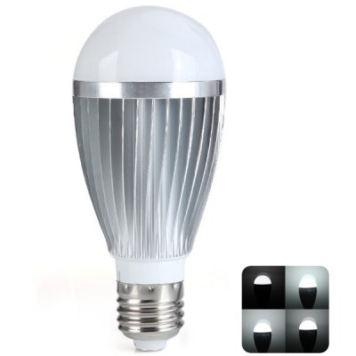 E27 9W 800LM White Light 20-LED Ball Bulb with Controller