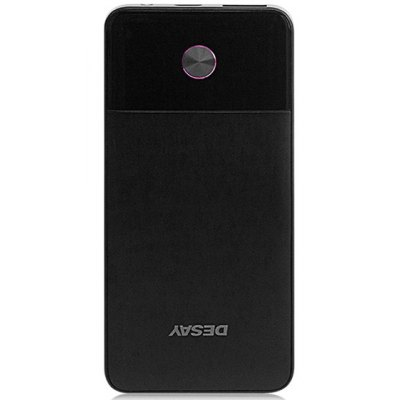 DS18 5000mAh Ultra-thin Portable Mobile Power Bank with Power Indicator Light