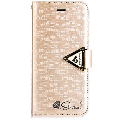 Гаджет   Leiers PC and PU Material Grid Pattern Stand Case Cover with Card Holder and Lanyard for iPhone 6  -  4.7 inches iPhone Cases/Covers