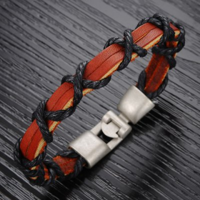 Fashion Rope Twisted Leather Chain Bracelet For MenMens Jewelry<br>Fashion Rope Twisted Leather Chain Bracelet For Men<br><br>Item Type: Chain &amp; Link Bracelet<br>Gender: For Men<br>Chain Type: Leather Chain<br>Style: Trendy<br>Shape/Pattern: Others<br>Length: 22CM<br>Weight: 0.060KG<br>Package Contents: 1 x Necklace